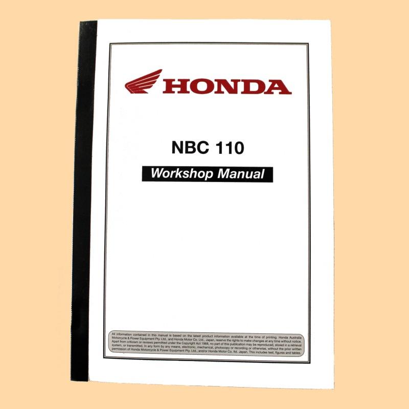 Honda NBC110 Super Cub Workshop Manual