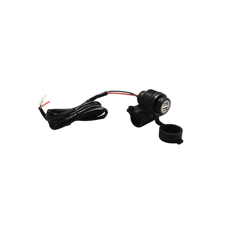12 Volt Twin USB Motorcycle Power Socket