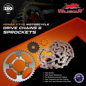 Honda CT110 Chain Sprocket Kit - All Models